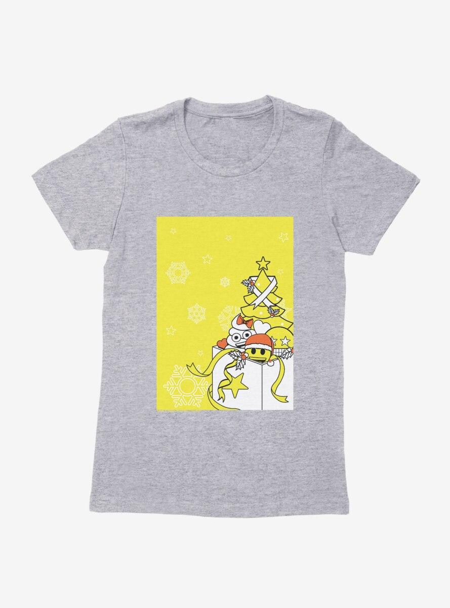 Emoji Holiday Icons Boxed Presents Womens T-Shirt