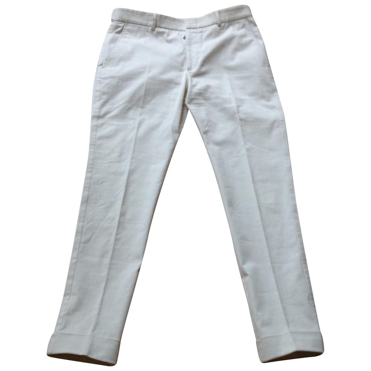 Gucci \N Ecru Cotton Trousers for Men 48 IT