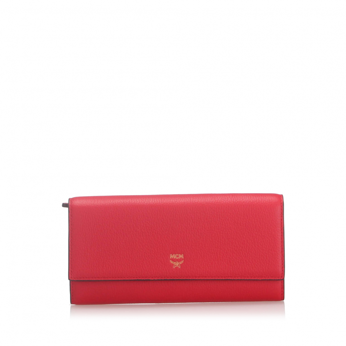 Mcm - Portefeuille   pour femme en cuir - rouge