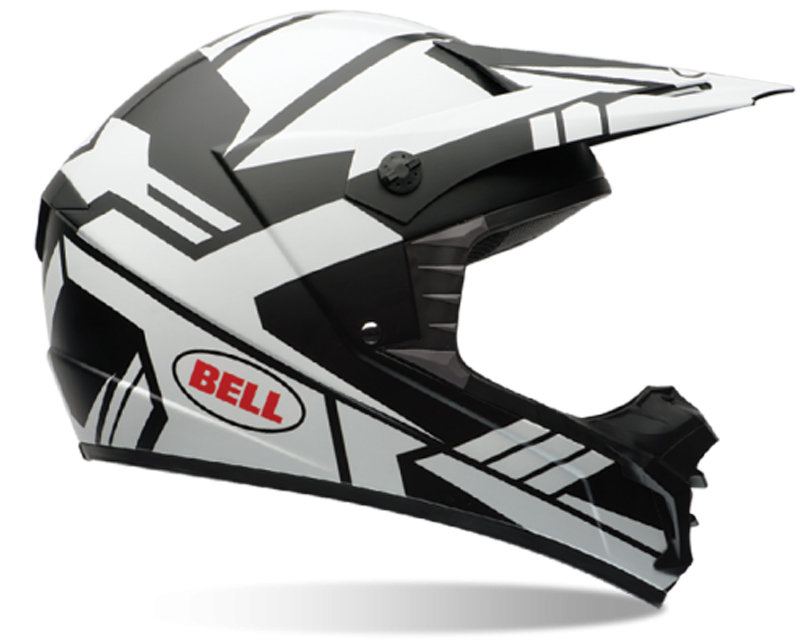 Bell Racing 7061191 SX-1 Stack Matte White Helmet SM | 55-56