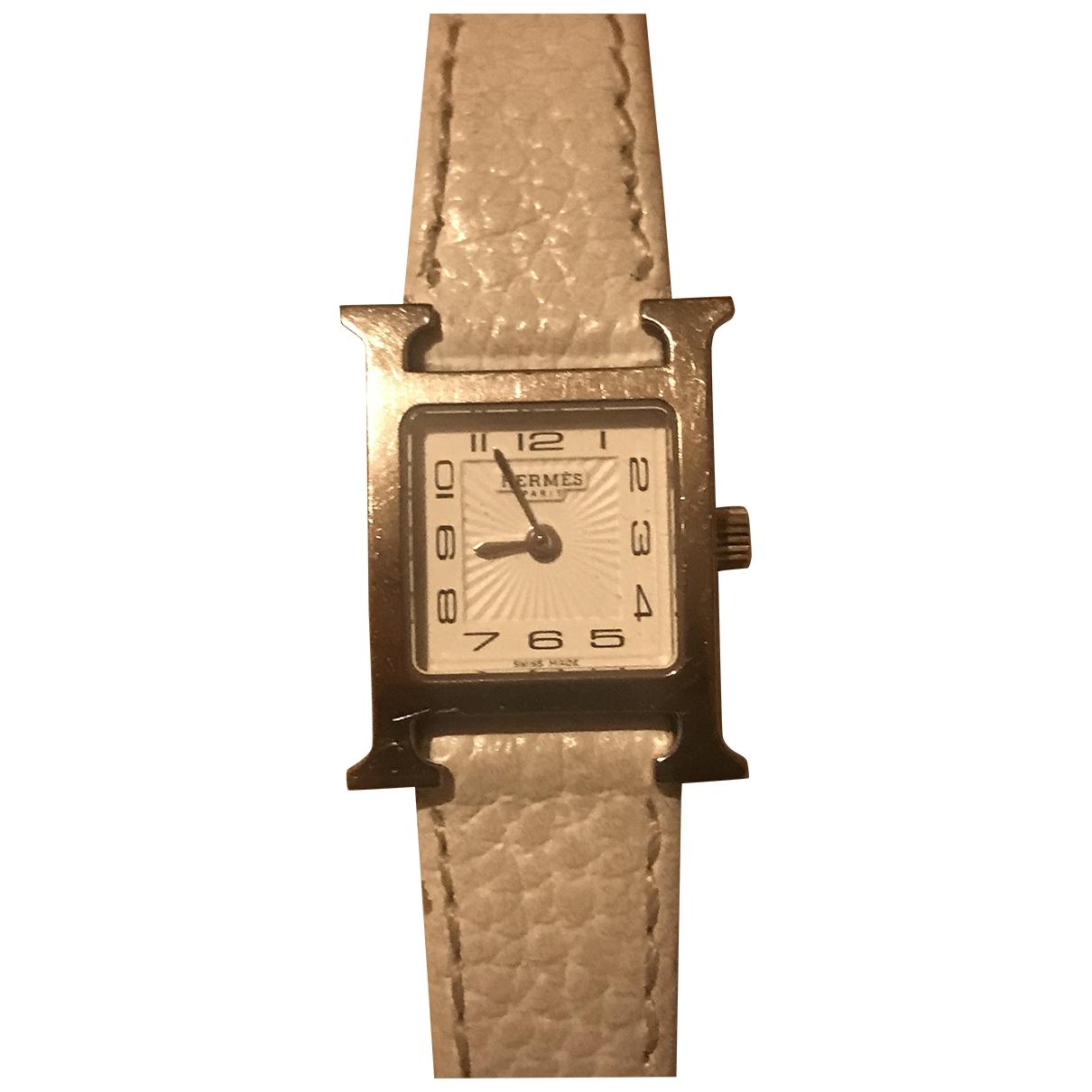 Hermès Heure H Silver Steel watch for Women \N