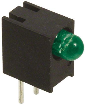 Dialight 551-0607F, Green Right Angle PCB LED Indicator, Through Hole 7.5 V