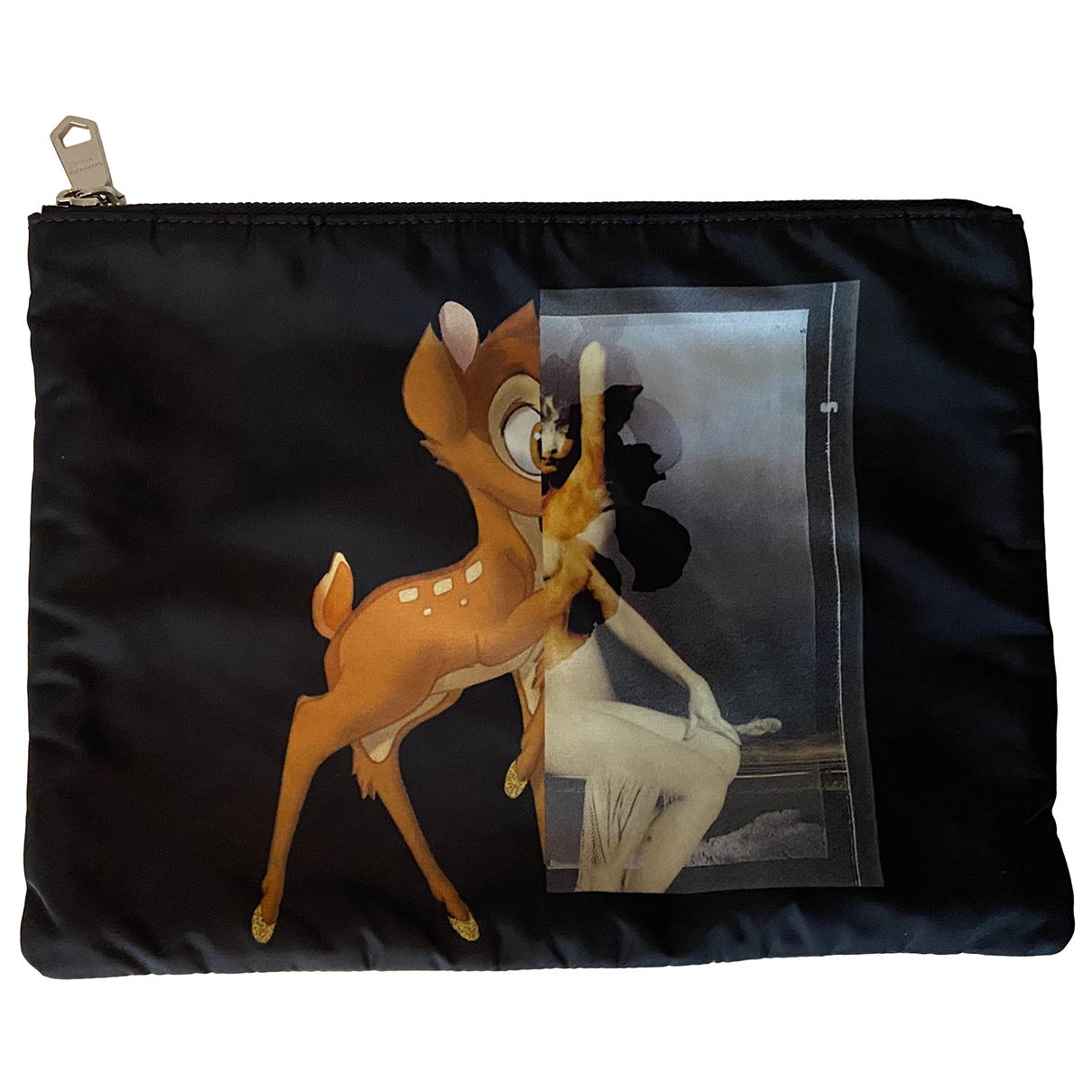 Givenchy \N Kleinlederwaren in  Schwarz Leinen