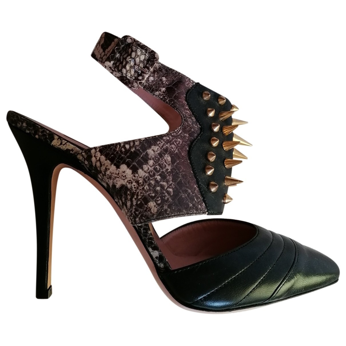 Pinko - Escarpins   pour femme en cuir - noir