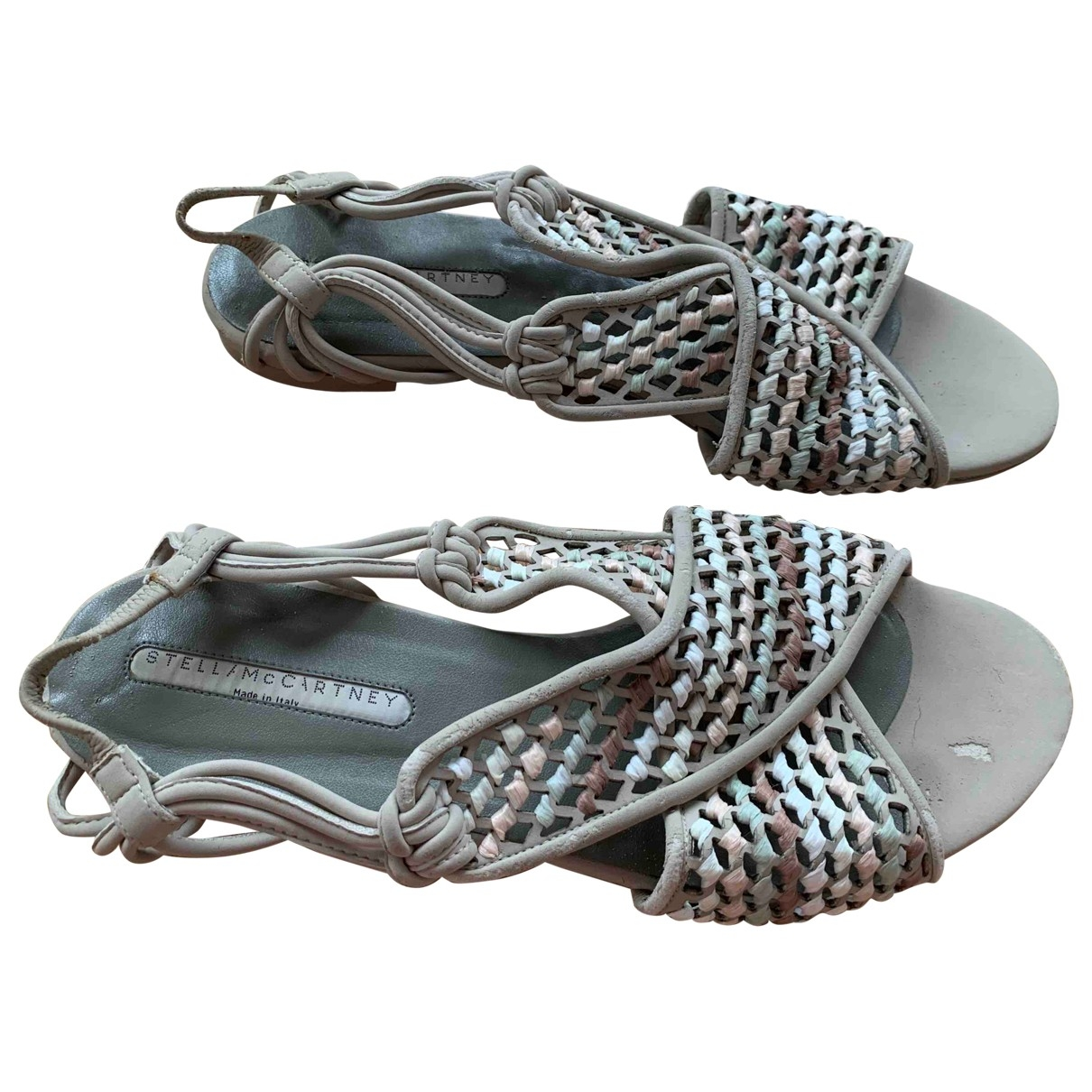 Stella Mccartney \N Grey Leather Sandals for Women 38.5 EU