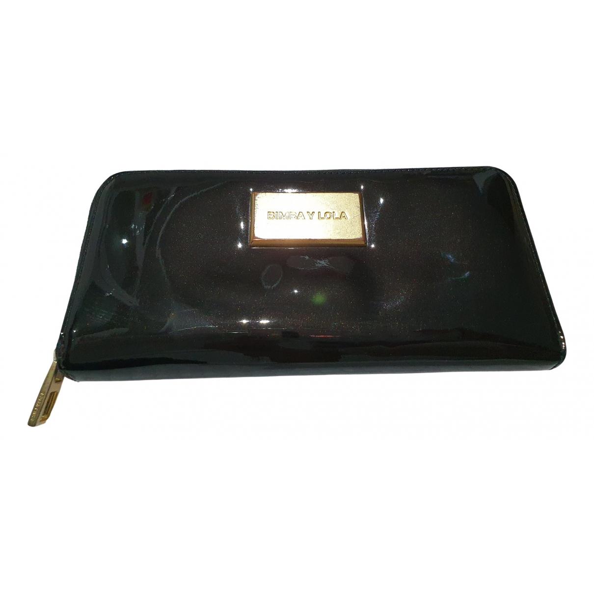 Bimba Y Lola - Portefeuille   pour femme en cuir verni - noir