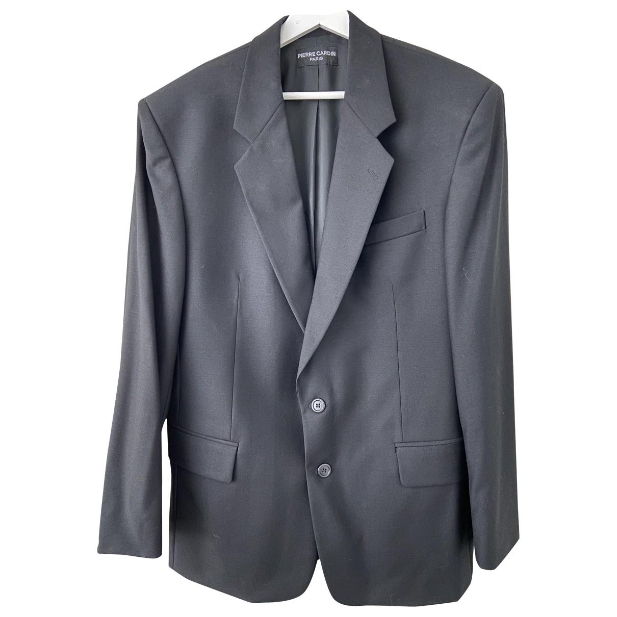 Pierre Cardin - Vestes.Blousons   pour homme en laine - noir