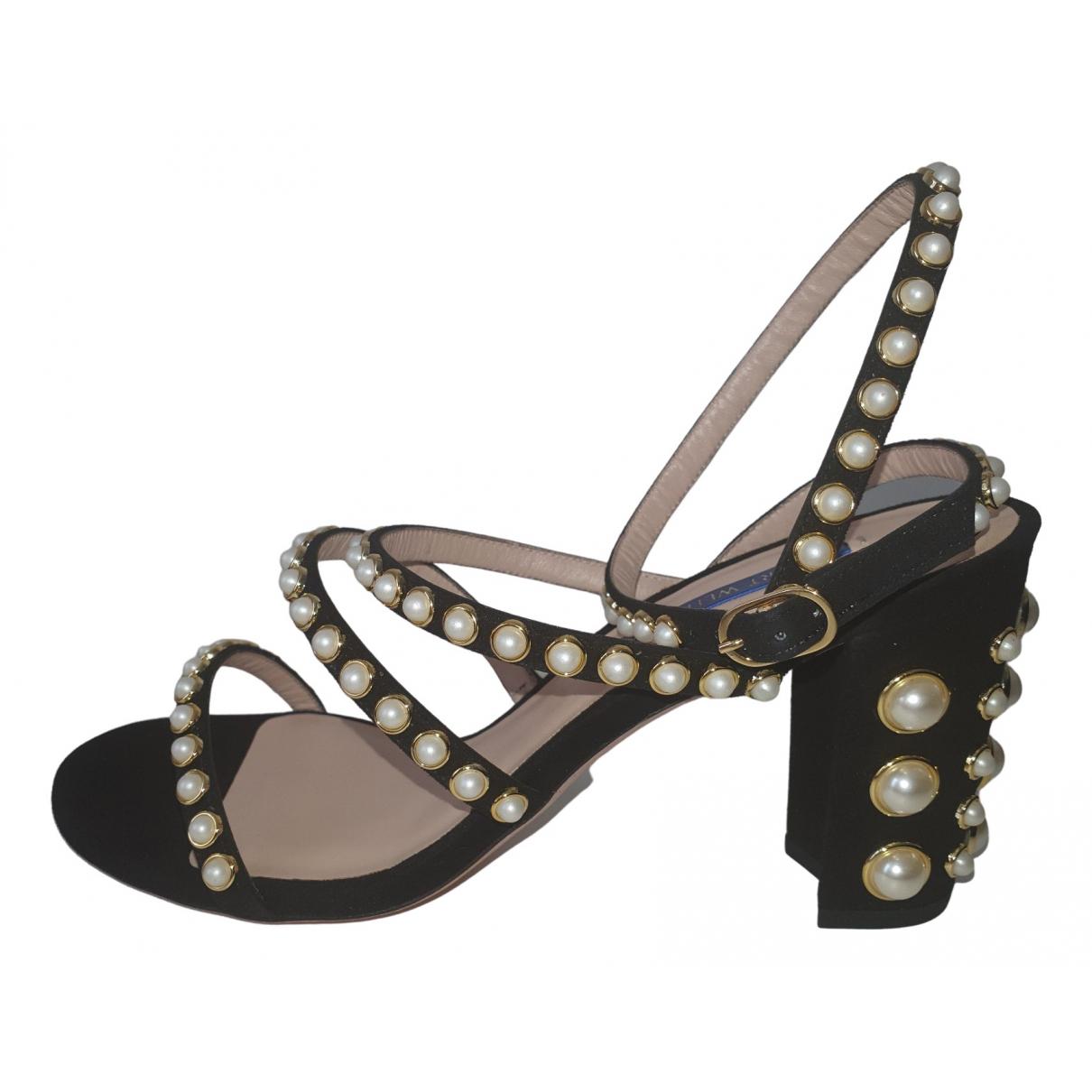 Stuart Weitzman \N Black Suede Sandals for Women 39 EU