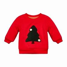 Sweatshirt mit Tannenbaum Muster