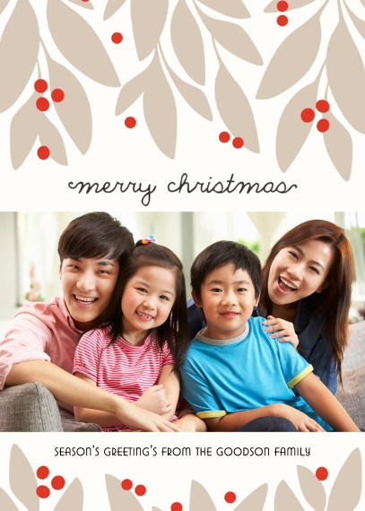 Christmas Photo Cards Flat Matte Photo Paper Cards with Envelopes, 5x7, Card & Stationery -Garland Christmas