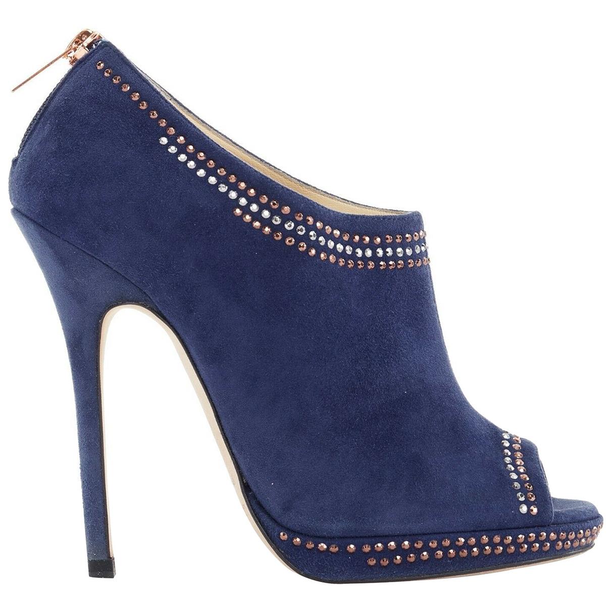 Jimmy Choo - Boots   pour femme en cuir - bleu