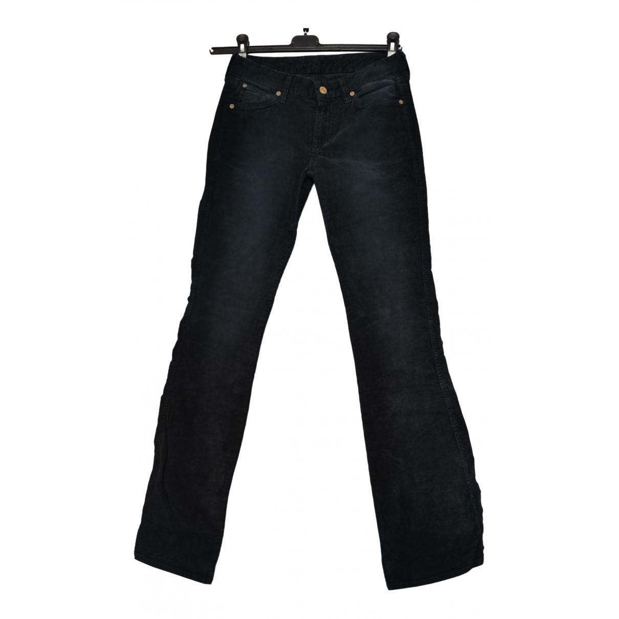 7 For All Mankind N Black Velvet Trousers for Women 40 IT