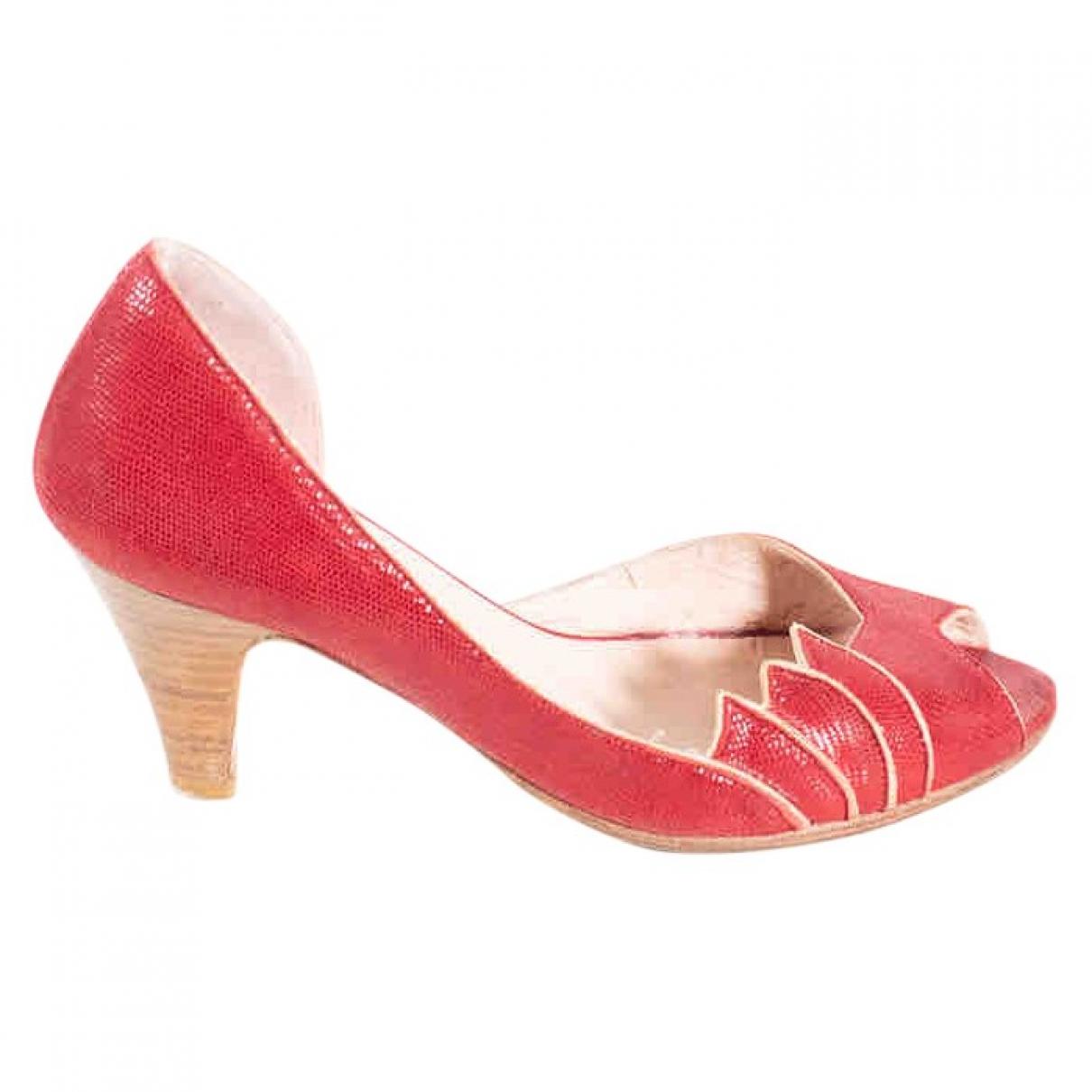 Patricia Blanchet \N Pumps in  Rot Leder