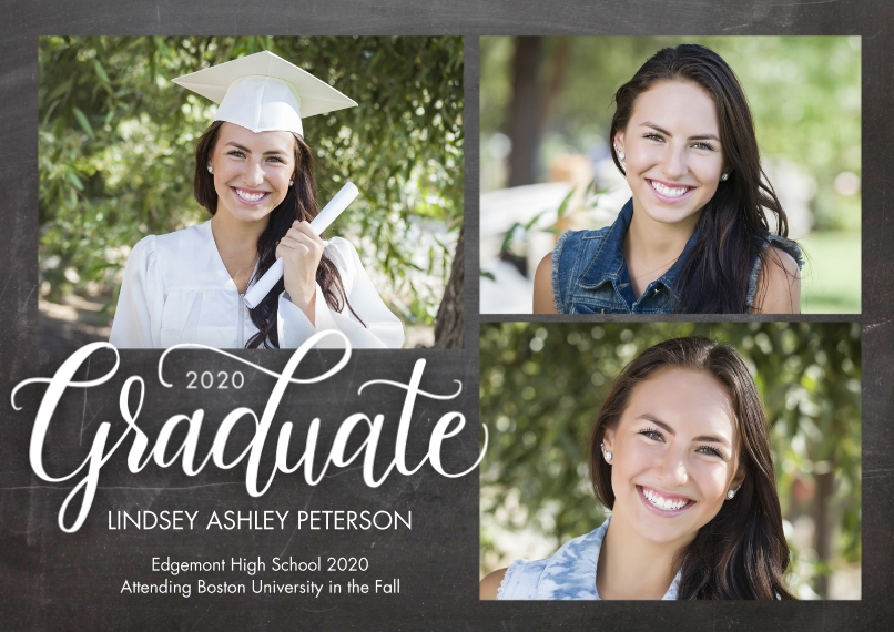 2020 Graduation Announcements Flat Matte Photo Paper Cards with Envelopes, 5x7, Card & Stationery -Graduate 2020 Rustic by Tumbalina