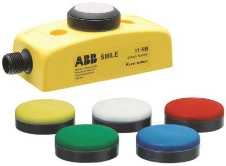 ABB Jokab Panel Mount Mushroom Head Emergency Button - NO, Turn To Release, 32mm, 32.2mm