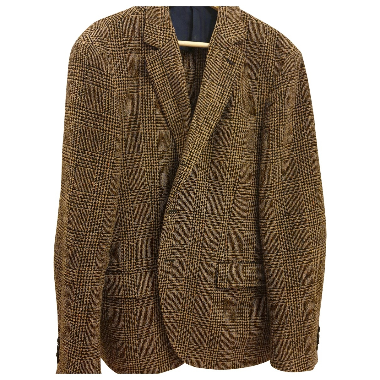 Massimo Piombo \N Brown Wool jacket  for Men 56 IT
