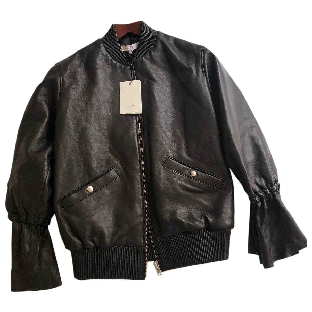 Iro N Black Leather jacket for Women 36 FR