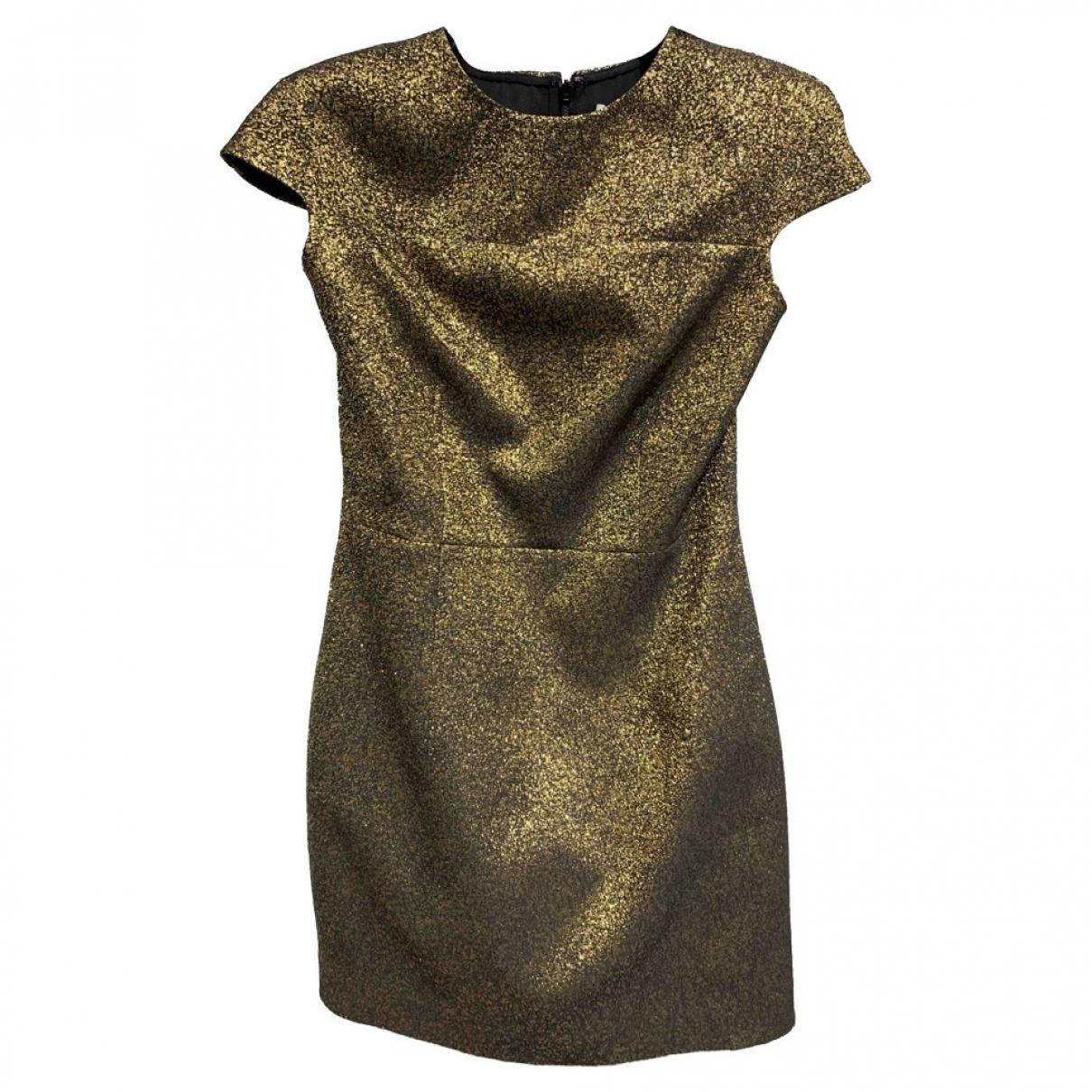 Diane Von Furstenberg \N Kleid in  Gold Polyester