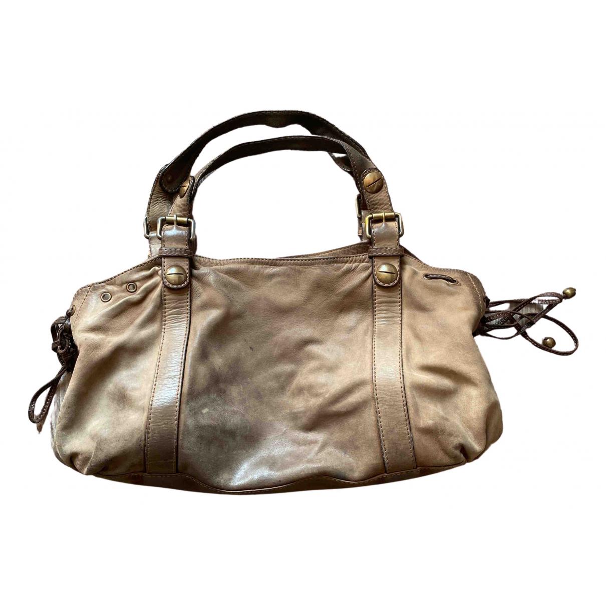 Gerard Darel 24h Handtasche in  Braun Leder