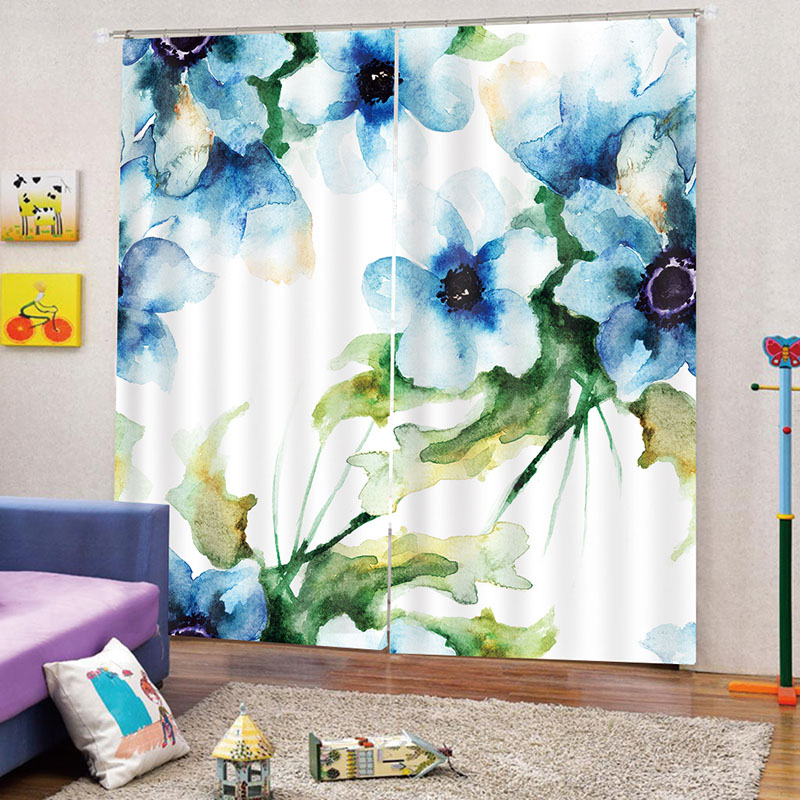 3D Floral Blackout Curtains with Water-Repellent Fabrics and Advanced Color-Fast Technology No Pilling No Fading No off-lining