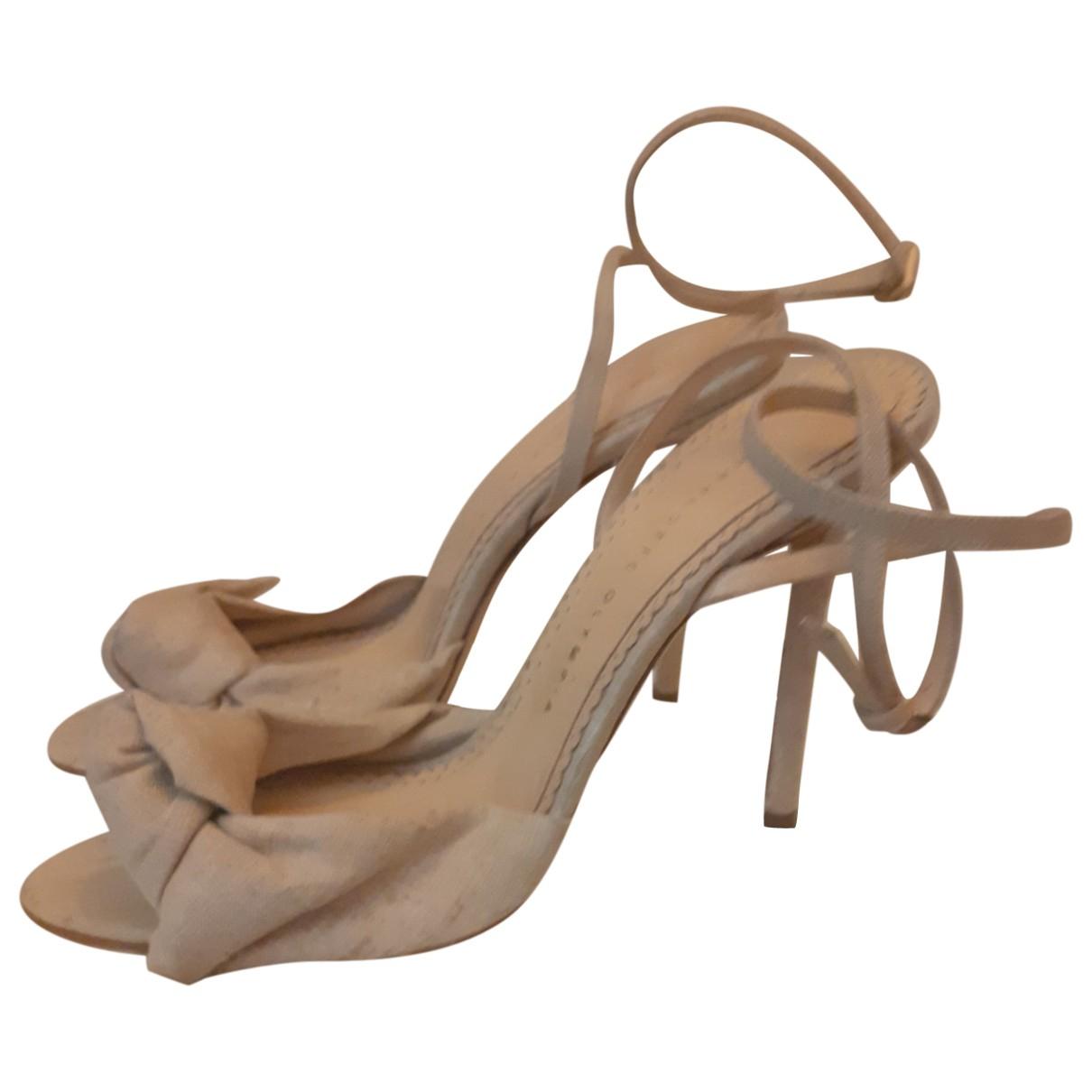 Charlotte Olympia \N Beige Cloth Sandals for Women 39 EU