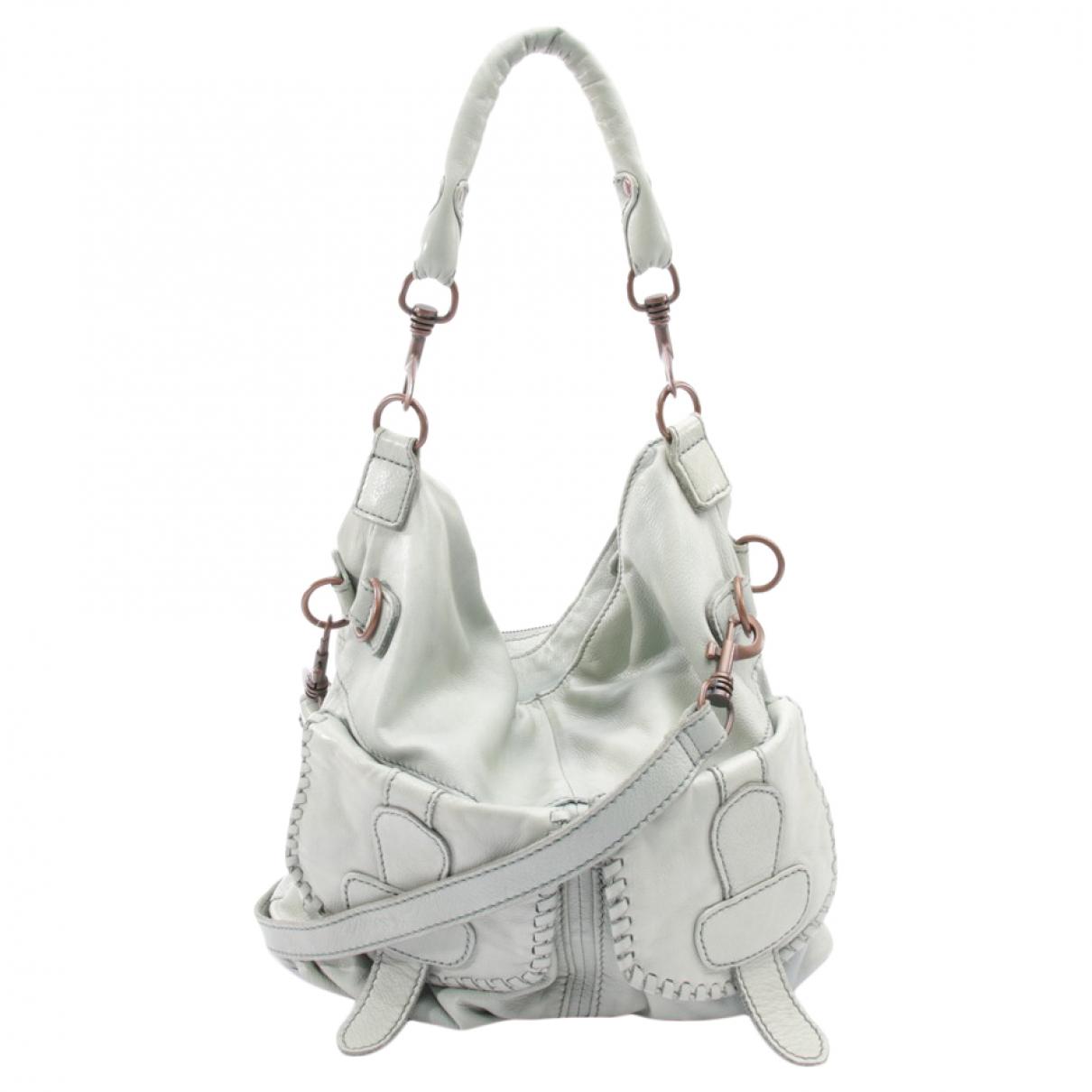 Autre Marque \N Handtasche in  Gruen Leder