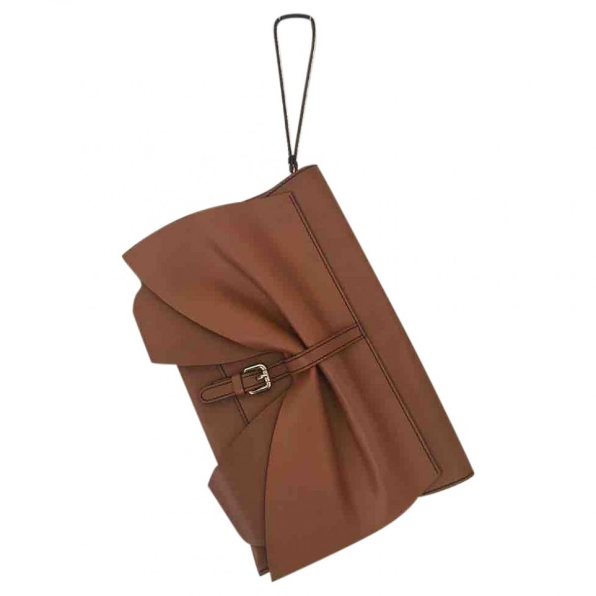 Red Valentino Garavani - Pochette   pour femme en cuir - marron
