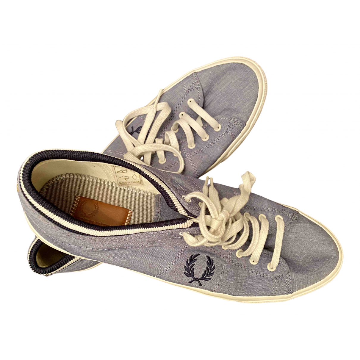 Fred Perry \N Navy Cloth Trainers for Men 43 EU