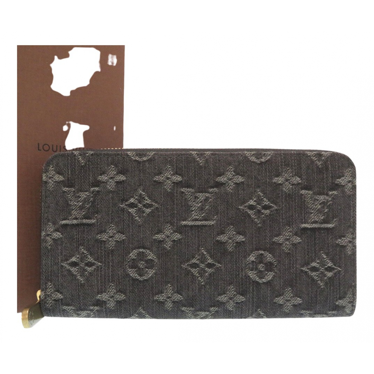 Louis Vuitton Zippy Black Denim - Jeans wallet for Women \N