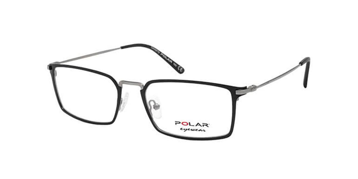 Polar PL 852 48 Mens Glasses Black Size 53 - Free Lenses - HSA/FSA Insurance - Blue Light Block Available