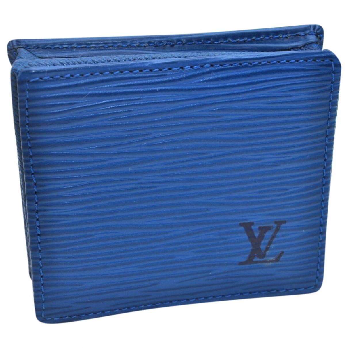 Louis Vuitton \N Blue Leather handbag for Women \N