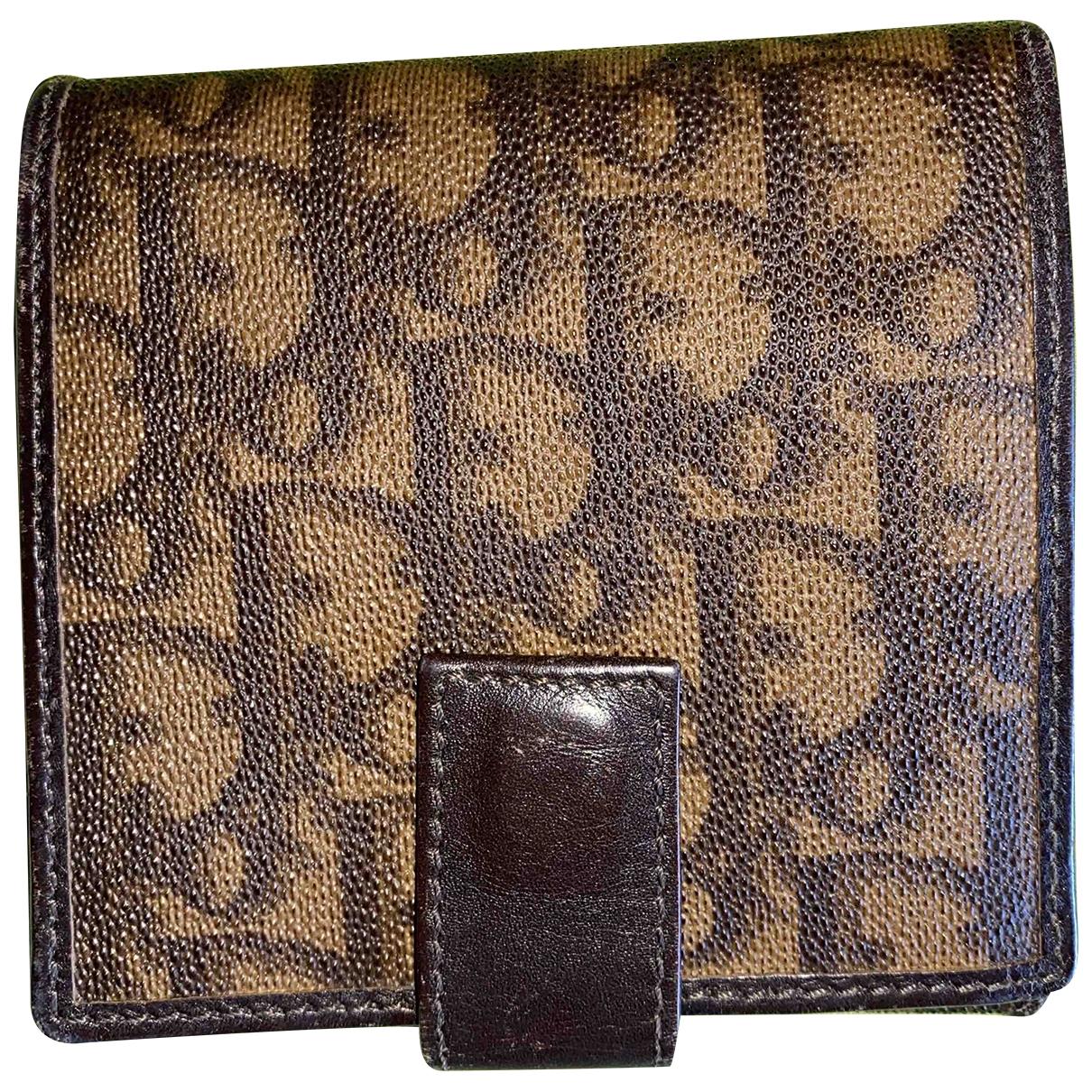 Christian Dior - Portefeuille   pour femme en cuir - marron
