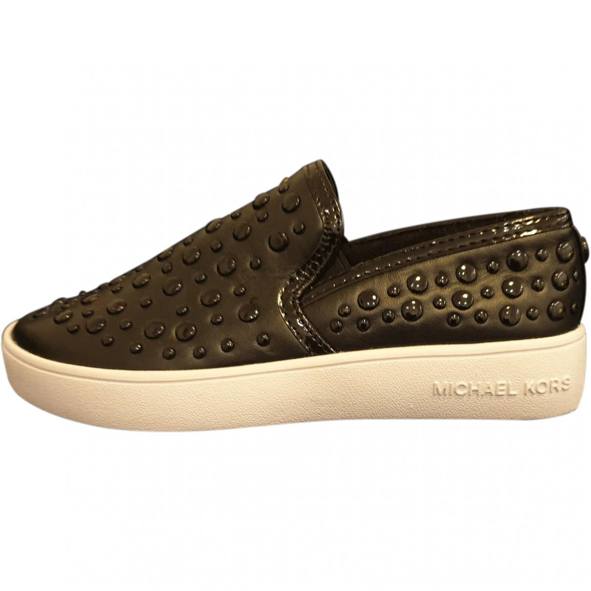 Michael Kors \N Black Leather Flats for Kids 13 US