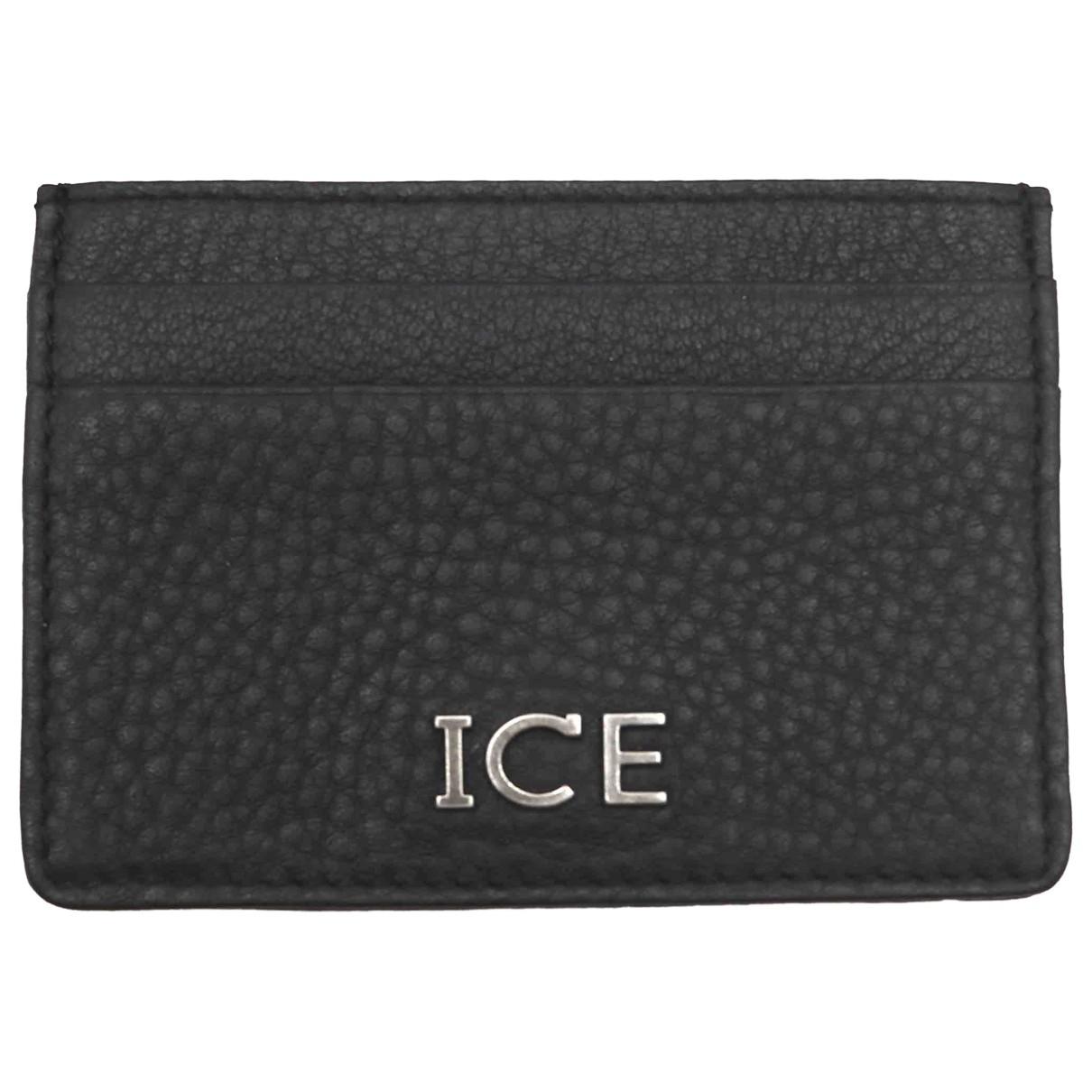 Iceberg \N Black Leather Small bag, wallet & cases for Men \N