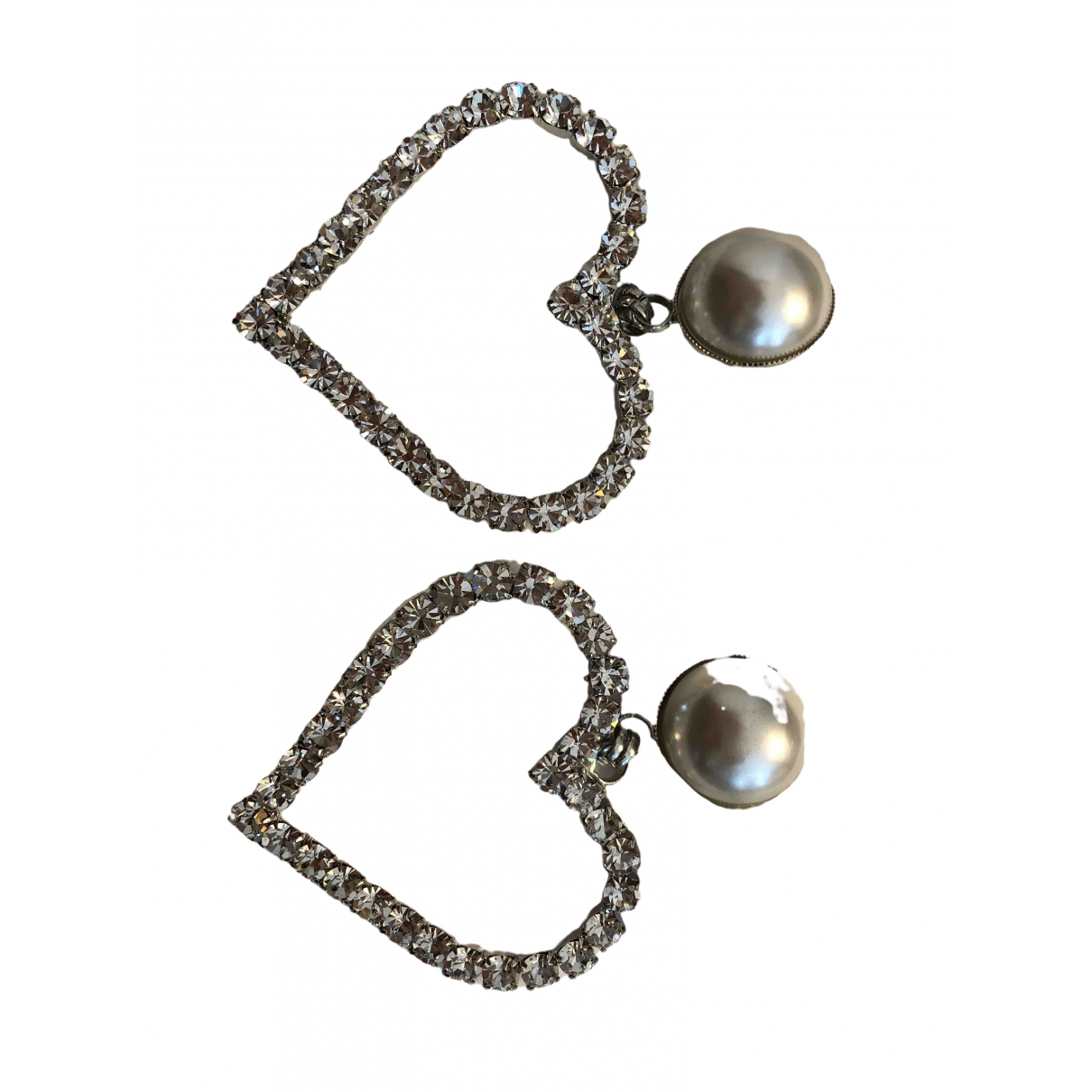 Alessandra Rich \N Silver Metal Earrings for Women \N