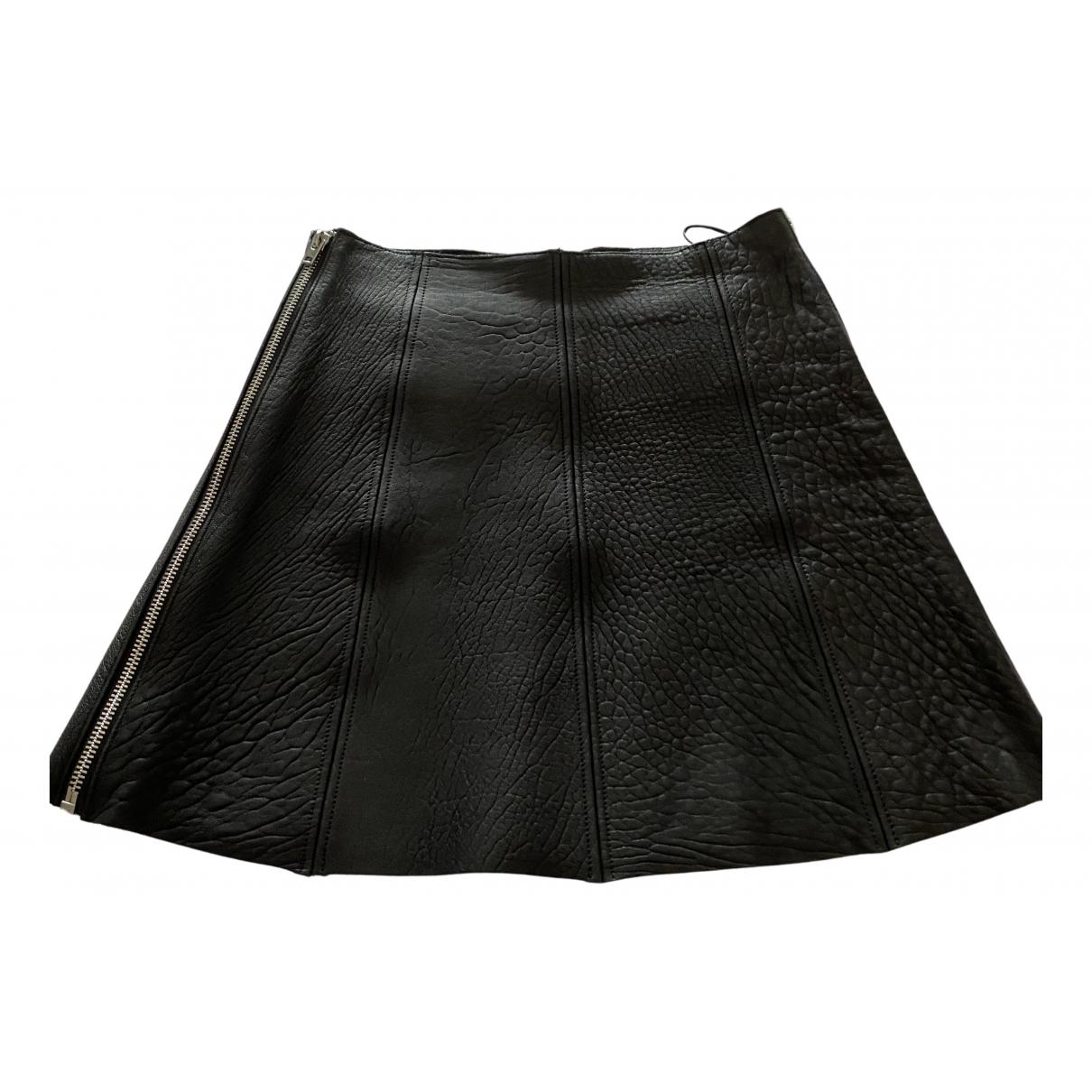 Bimba Y Lola N Black Leather skirt for Women 38 FR