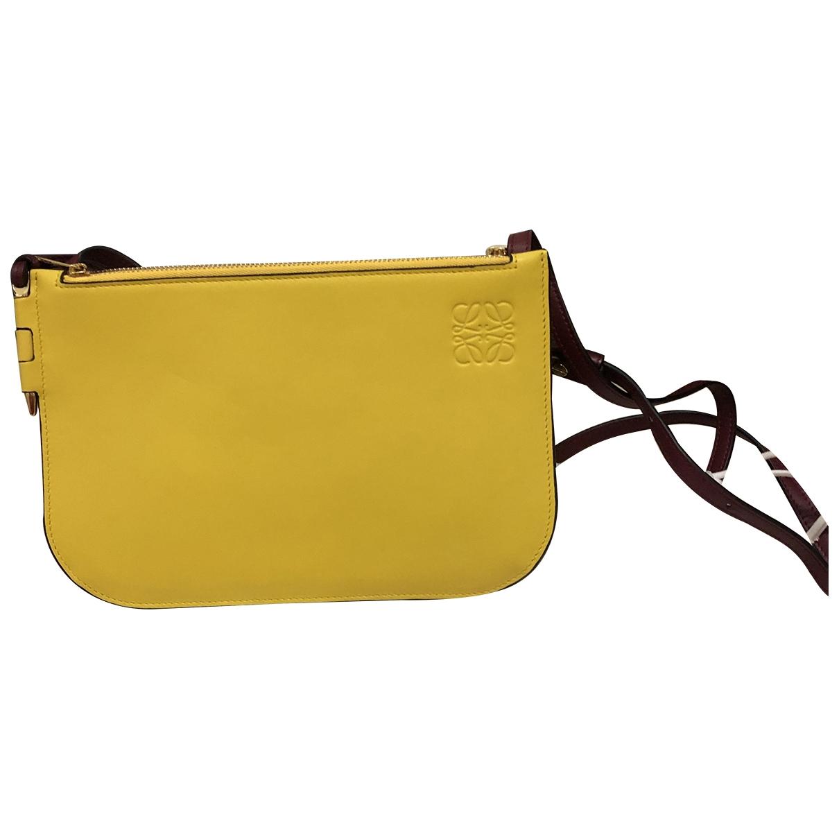 Loewe \N Yellow Leather handbag for Women \N