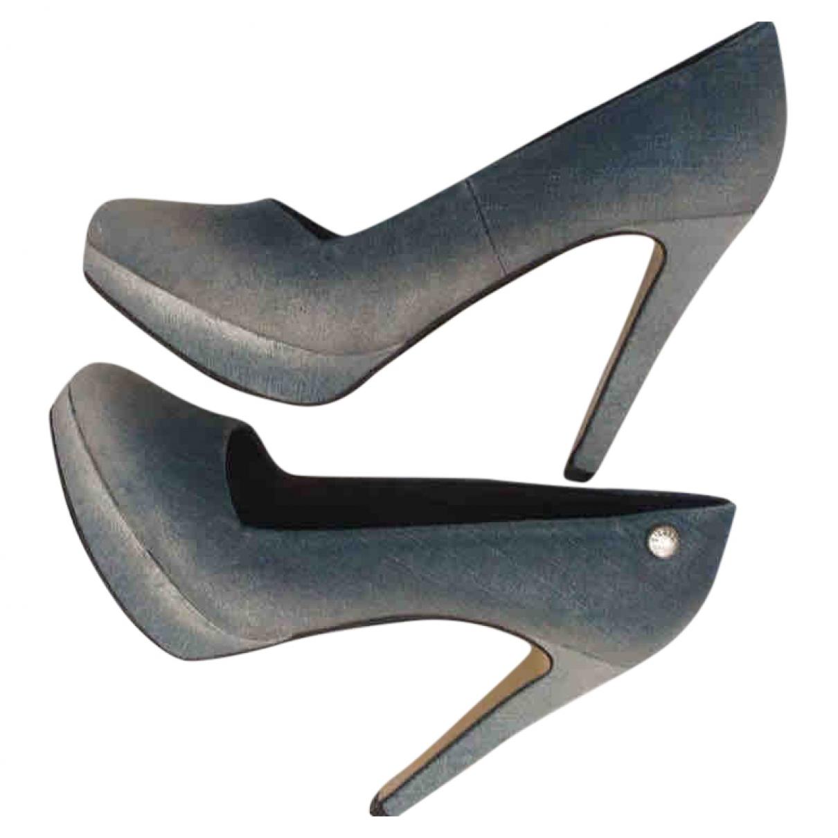 Diesel - Escarpins   pour femme en toile - bleu