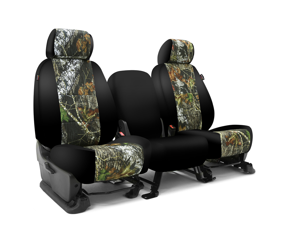 Coverking CSC2MO01FD9640 Skanda Custom Seat Covers 1 Row Neosupreme Mossy Oak Break Up with Black Sides Front Ford F-150 2013-2014