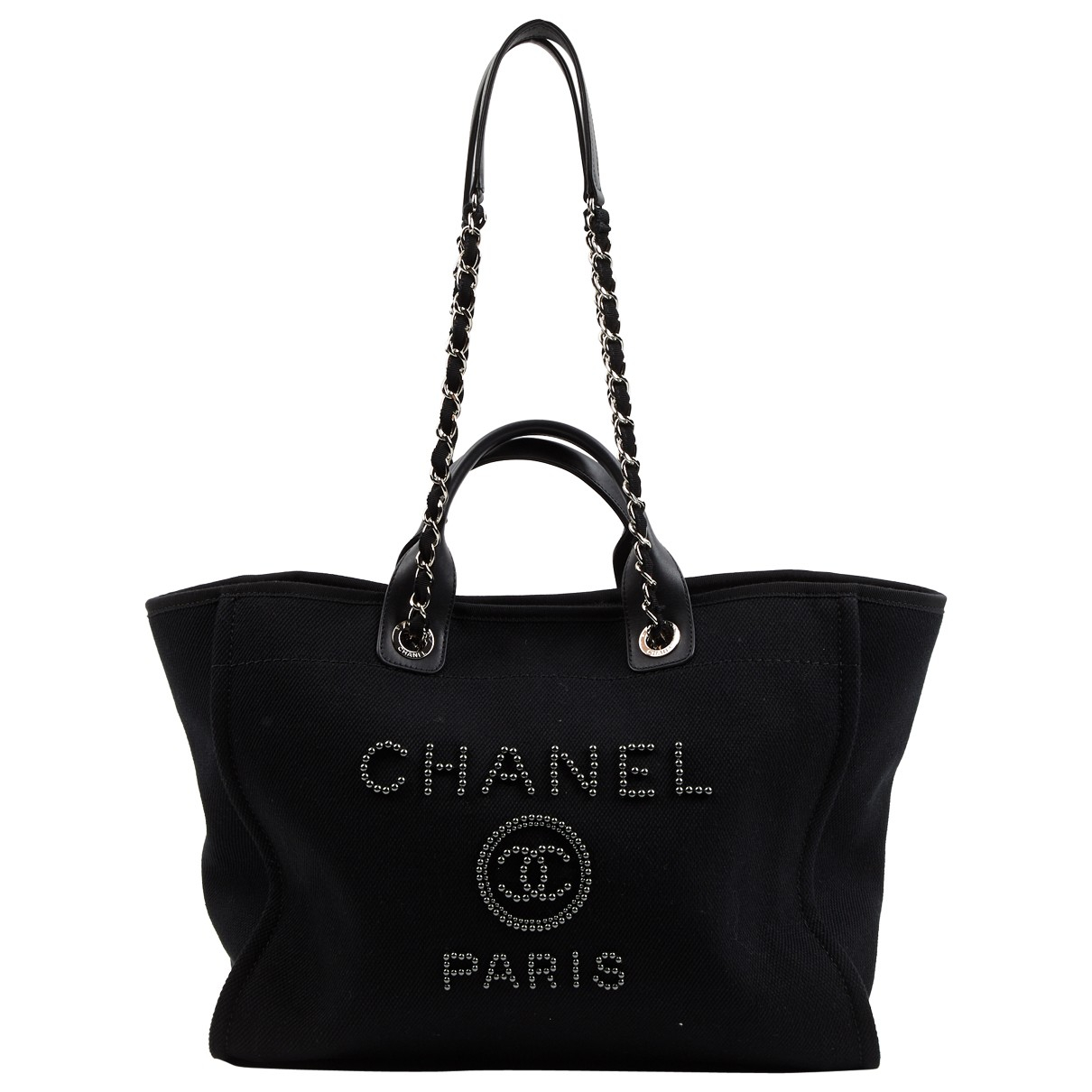 Chanel Deauville Black Cloth handbag for Women \N