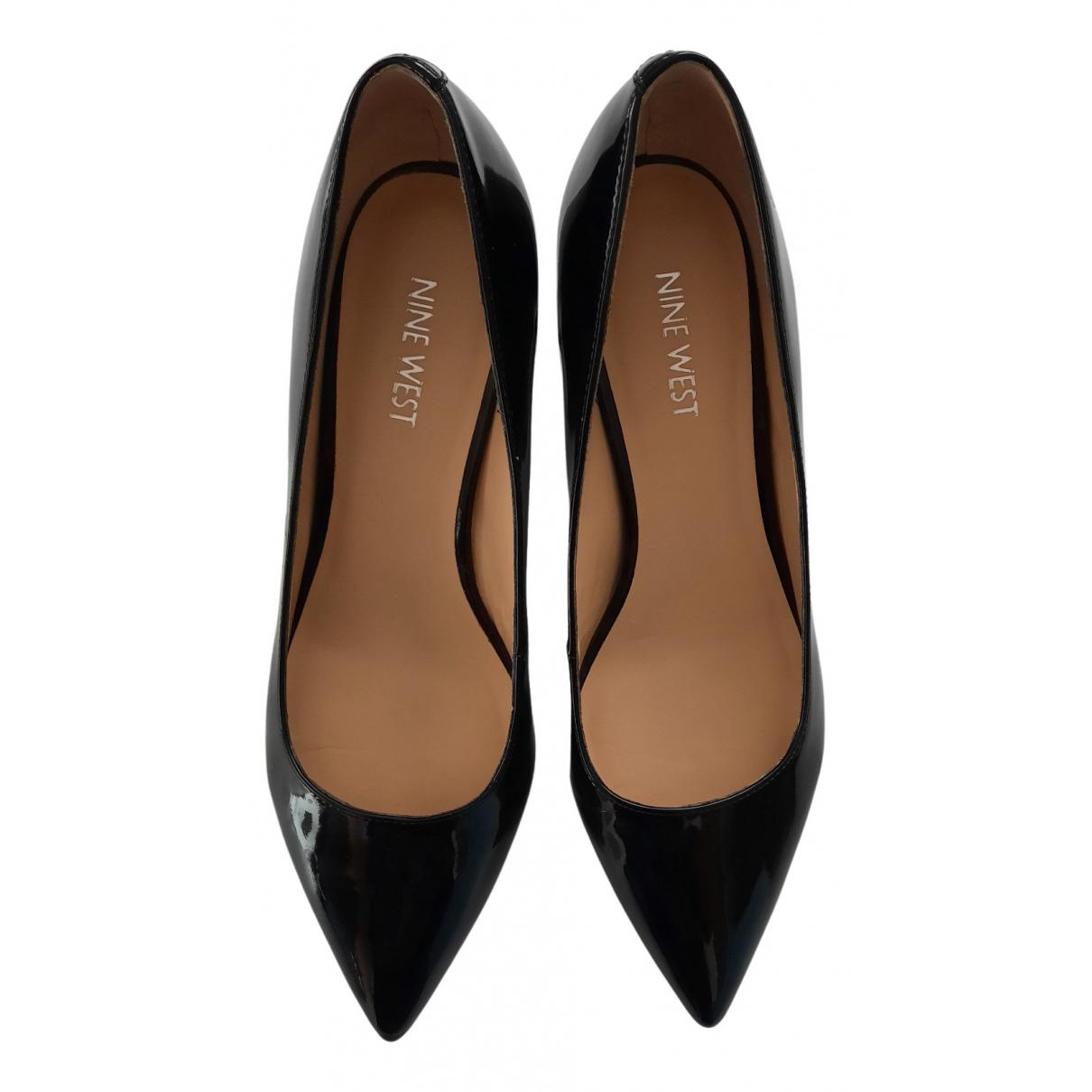 Nine West N Black Leather Heels for Women 38.5 EU