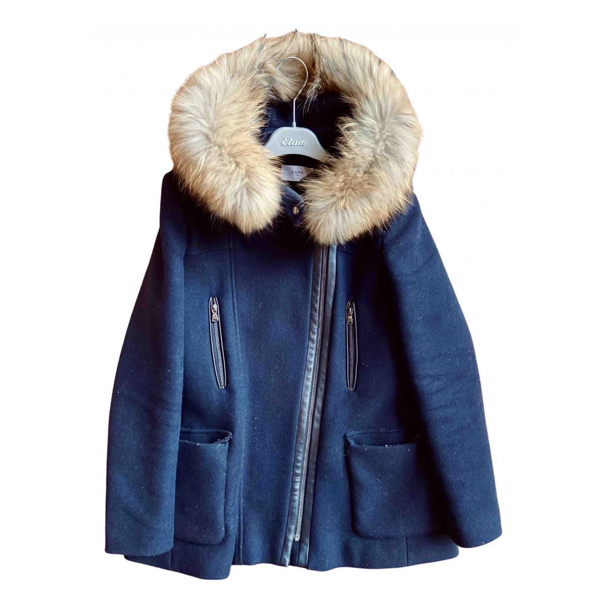 Zapa - Manteau   pour femme en laine - marine