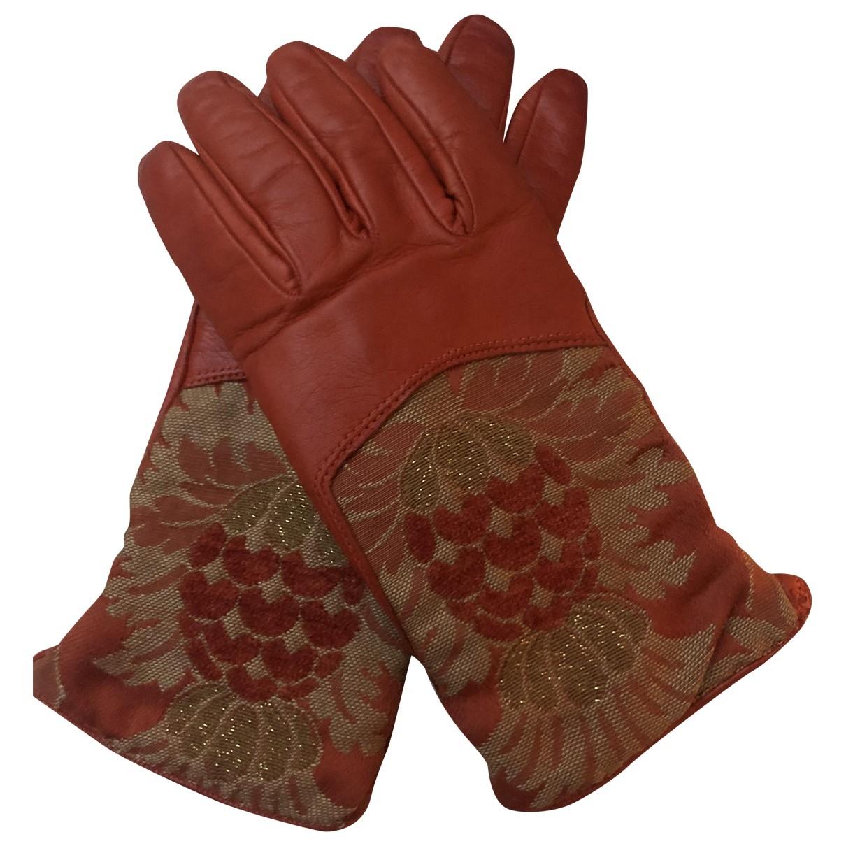 Etro \N Handschuhe in  Orange Leder