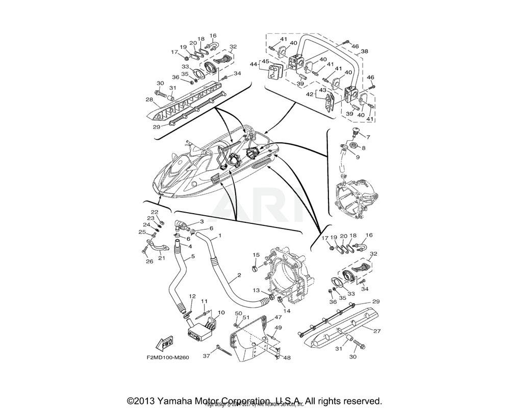 Yamaha OEM F1S-U883P-01-00 STABILIZER RH | BLACK