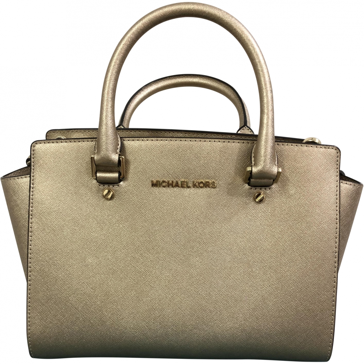 Michael Kors Selma Gold Leather handbag for Women \N