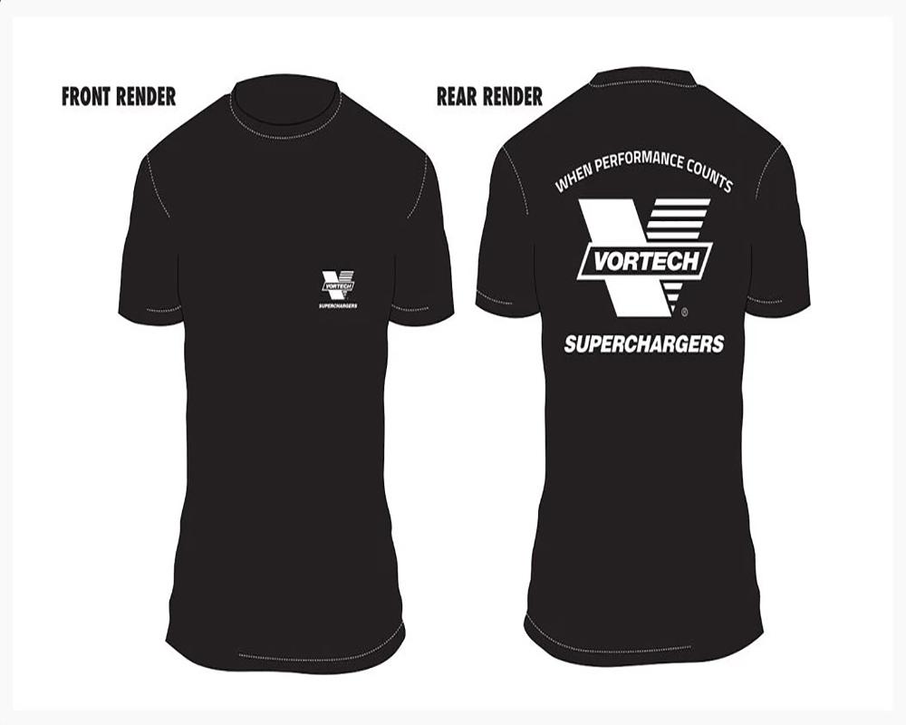 Vortech V Logo When Performance Counts T-Shirt Large