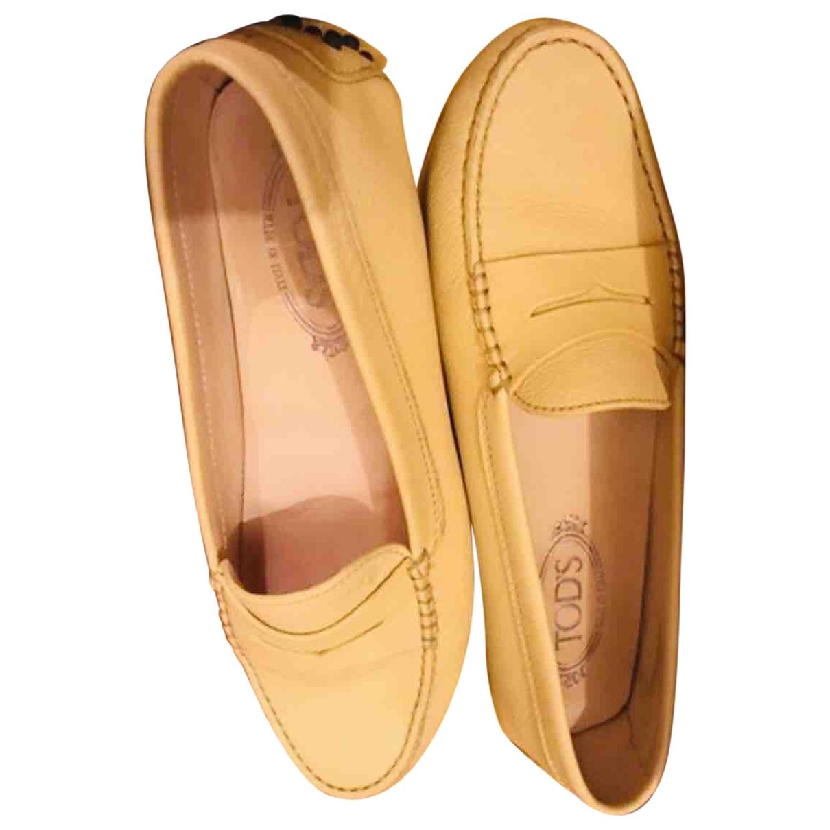 Tods - Mocassins Gommino pour femme en cuir - jaune