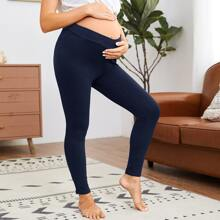 Maternity Einfarbige Leggings mit