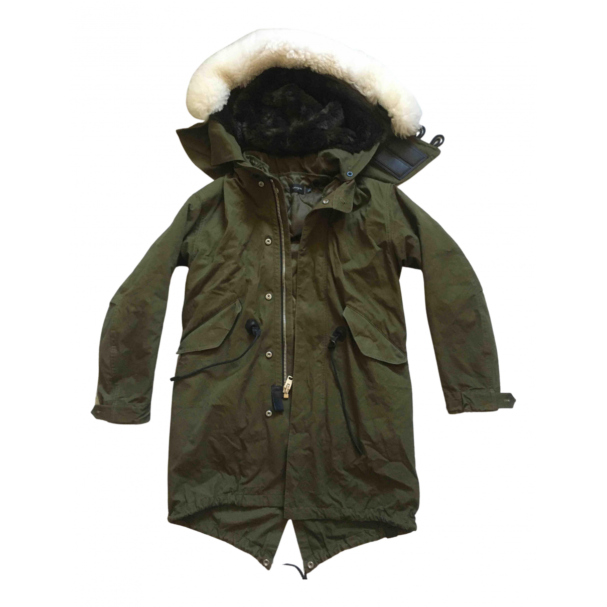 Coach \N Khaki Cotton coat for Women 4 US