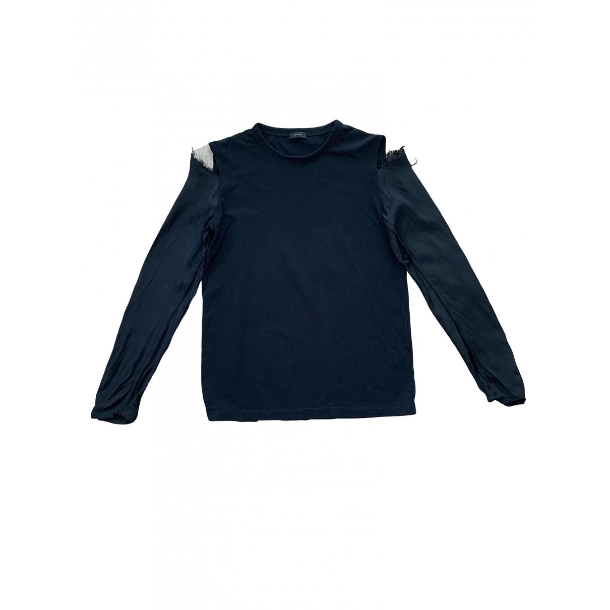 Joseph - Top   pour femme en coton - noir